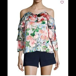 Alice + Olivia Marylee Off The Shoulder Top. NWT.